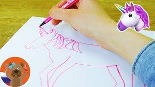 Арт одной линией челлендж   Рисуем единорога не отрывая карандаш от бумаги