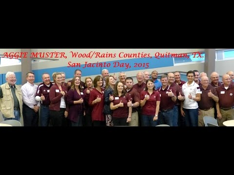Aggie Muster, Quitman, TX, Sarah Medlin, facilitator, Jim Berry, speaker, 04 21 15 VIDEO