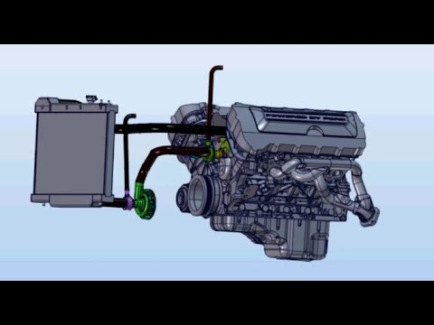hqdefault ford coyote engine electric water pump conversion youtube