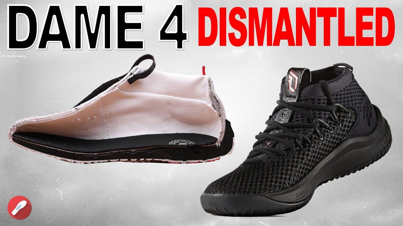 A Look INSIDE the DISMANTLED Adidas Dame 4! - YouTube 76725ca75