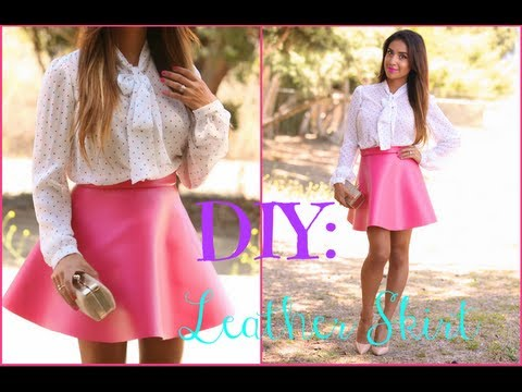 Easy DIY: Faux Leather Circle Skirt - YouTube