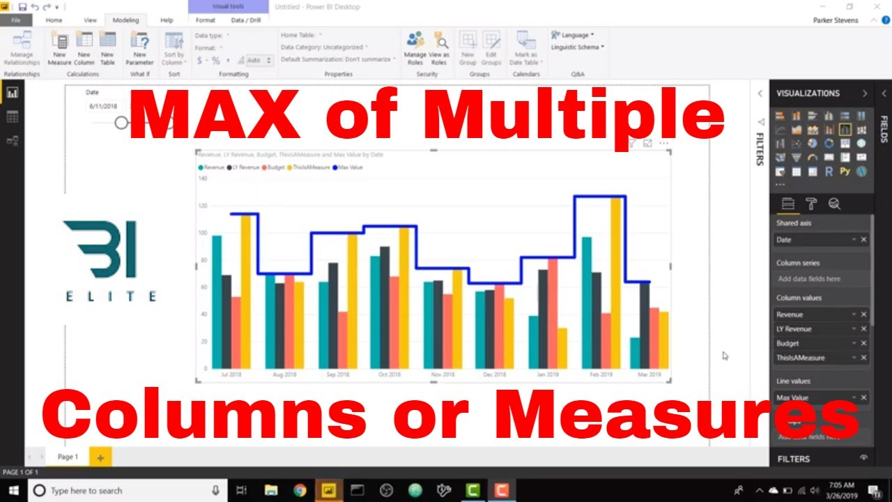 DAX for Power BI - MAX of Multiple Columns or Measures