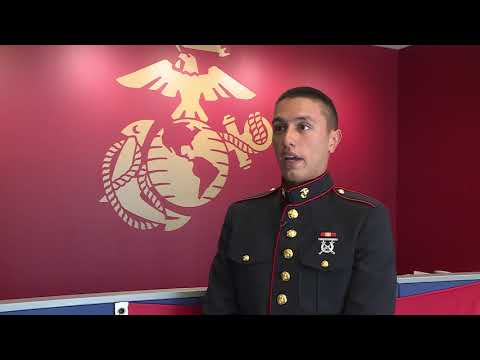 Private Pablo Diez from Webster High School joins the United States Marine Crops