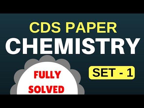 CDS Solved Paper | Chemistry Set - 1
