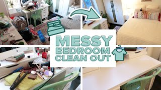 CLEAN WITH ME: Messy Bedroom Clean Out