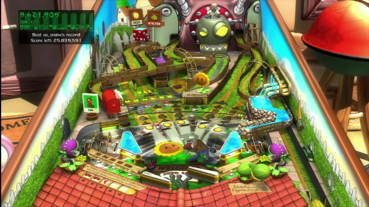 Classic game room plants vs zombies pinball table for Table zombies