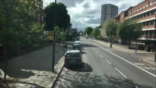 FULL ROUTE VISUAL London Bus Route 2 Marylebone to West Norwood HV290 LK17ALU
