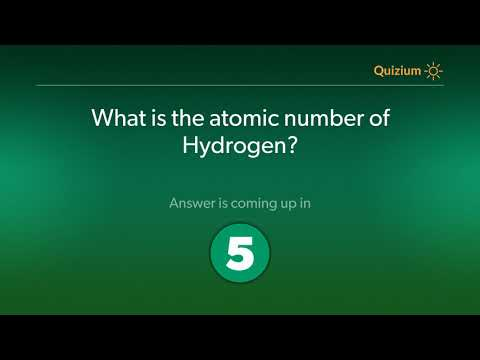 What is the atomic number of Hydrogen?   Hydrogen Quiz