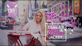 How to Paint a Leather Jacket with ABC's Gong Show Winner + Celebrity Speedpainter, Jessica K. Haas