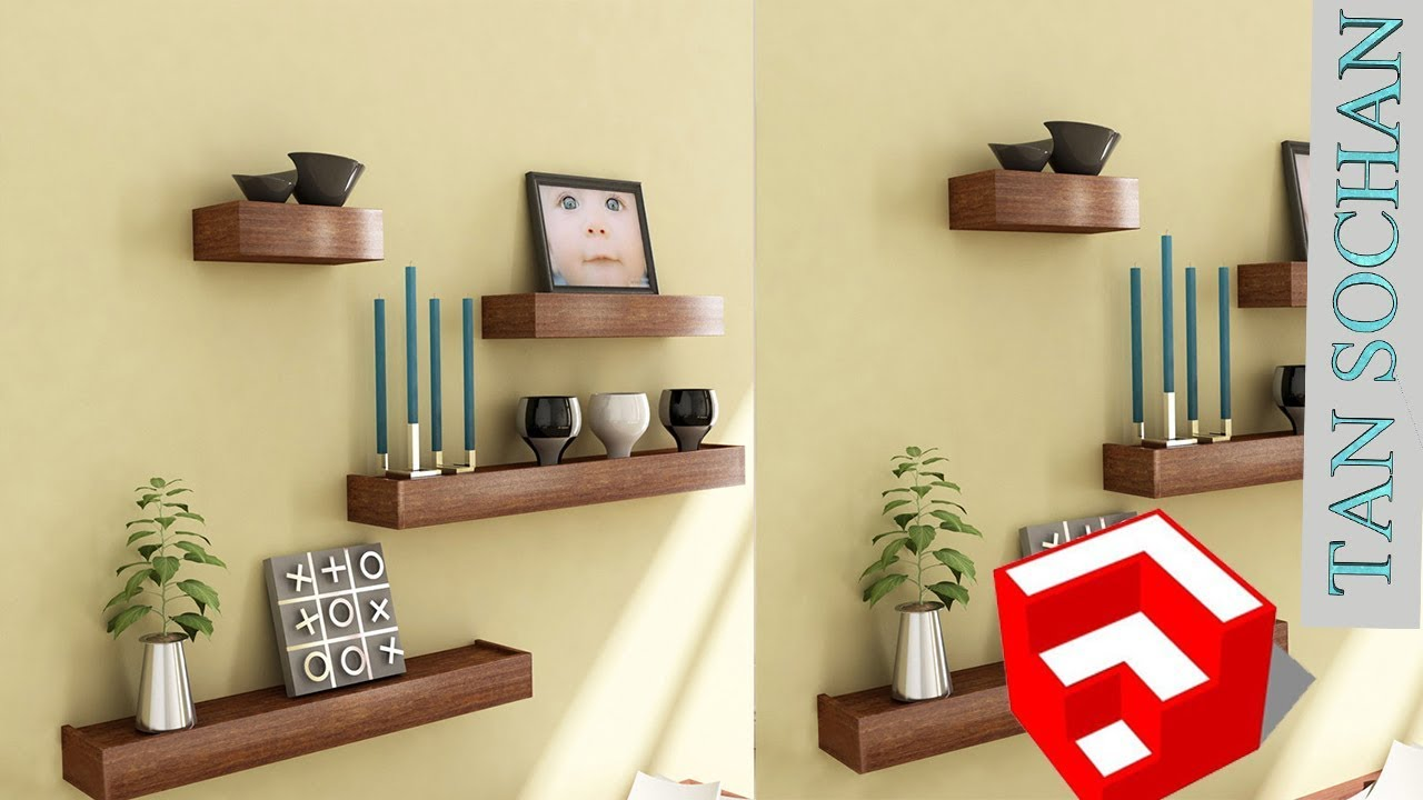 Magnificent Decorative Floating Wall Shelf Display Unit Motif - The ...