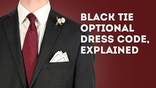 Black Tie Optional Dress Code Explained