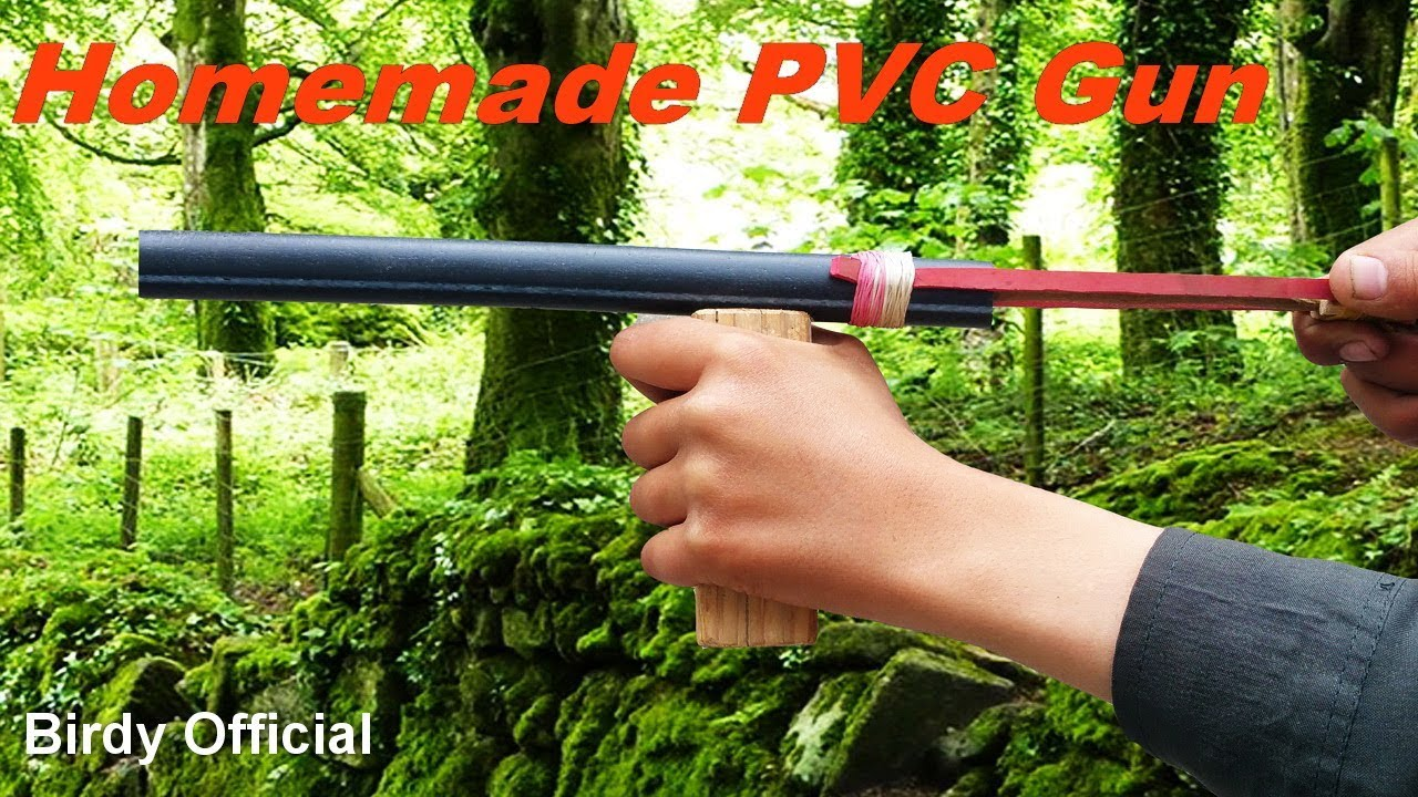 PVC Gun - How To Make A Gun Using PVC Pipe - Easy Homemade Gun That Shoots