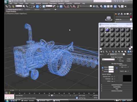 How to render a wireframe in 3ds max