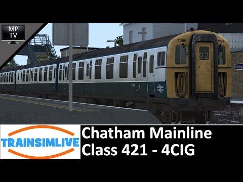 Haddock Takes over TSL - Chatham Mainline, Class 421 4-CIG