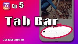 Swift 3 & Firebase 4 & 3 - How to Build Instagram Tab Bar - Ep 5 (Build Instagram)