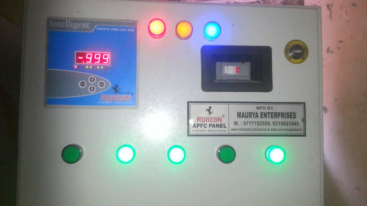 power factor controller apfc relay runcon youtube rh youtube com apfc relay connection diagram 4 Pin Relay Wiring Diagram