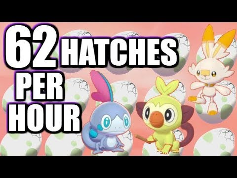 Egg SPEED Breeding & Hatching Guide In Pokemon Sword And Shield - 62 Hatches Per Hour