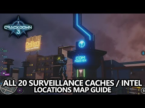 Map 3 Locations.Crackdown 3 All 20 Surveillance Caches Intel Fragments