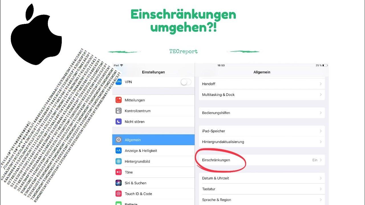 Einschränkungscode vergessen: Sie können Ihr iPhone zurücksetzen