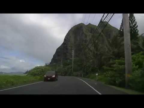 Driving around Hawaii Oahu 7 ハワイオアフ島1周 2015.06.18