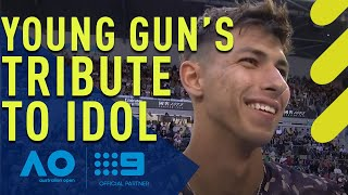 Aussie star's touching tribute to vanquished idol - Australian Open | Wide World of Sports