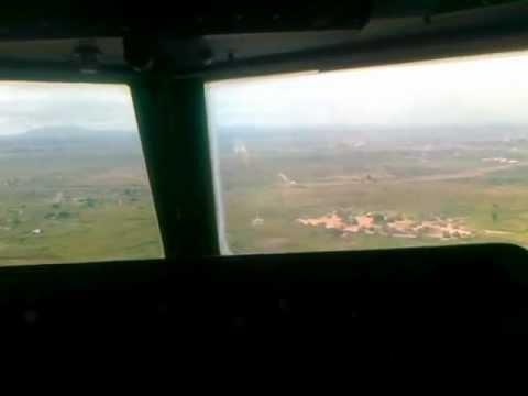 Fokker-50 Landing Juba SD322