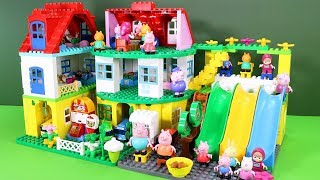 Peppa Pig Legos House Construction Sets - Lego Duplo House With Water Slide Toys For Kids #4