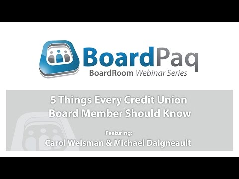 5 Things Every Credit Union Board Member Should Know