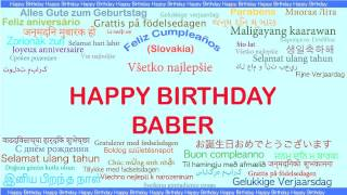 Baber   Languages Idiomas - Happy Birthday