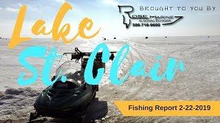 Lake St Clair Michigan Ice Fishing Report 2-22-2019
