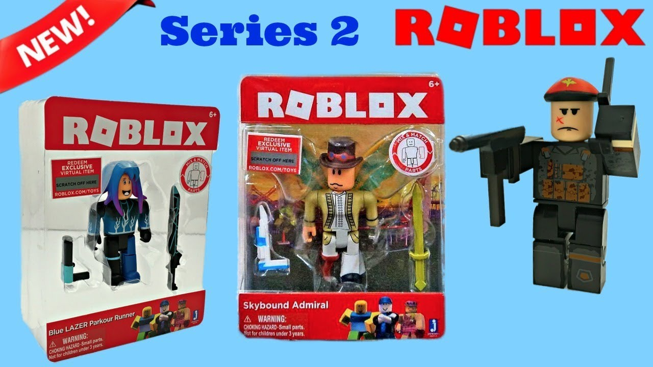 Roblox Blue LAZER Parkour Runner Pack Action Figure Set for Kids Toy