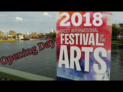 2018 Epcot's Festival of the Arts Walkthrough   Opening Day