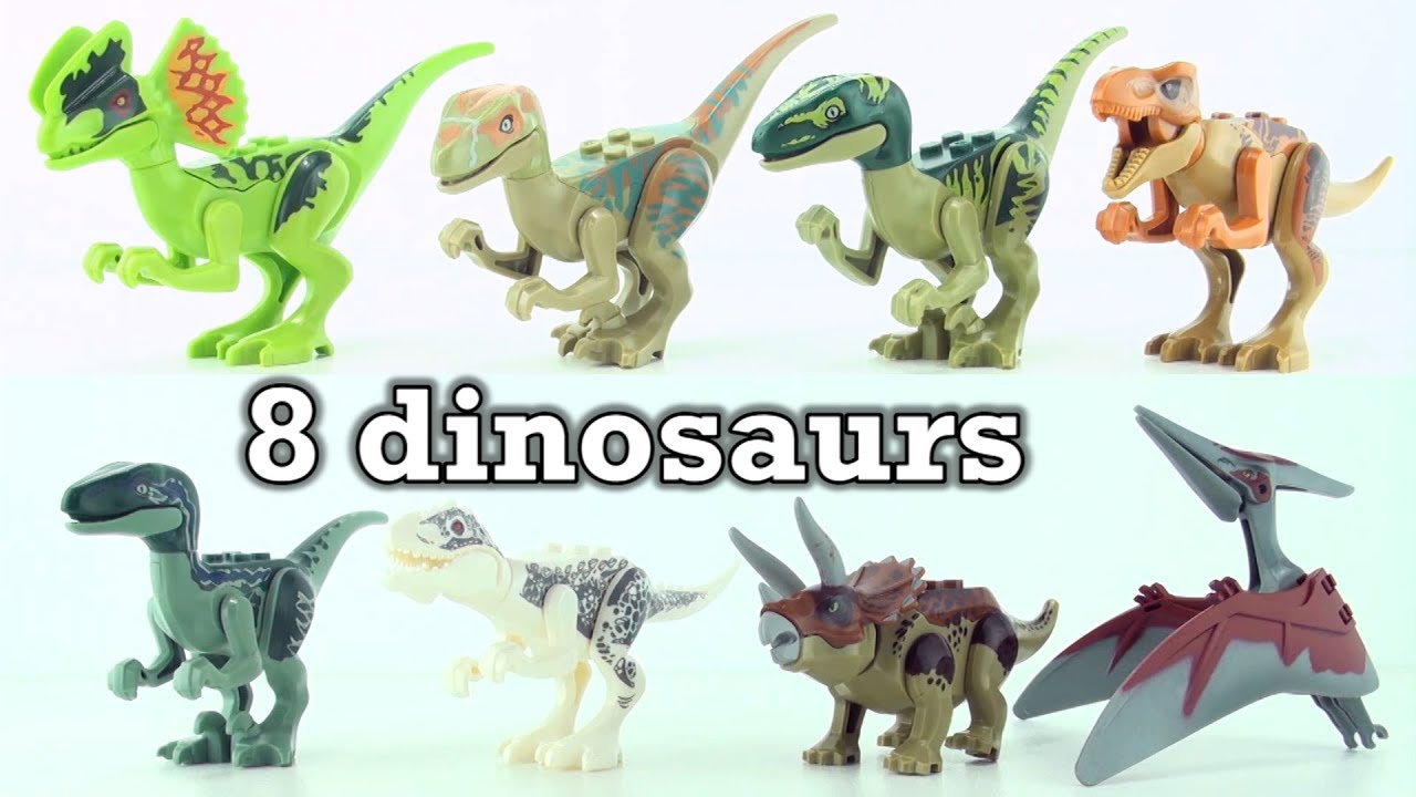 8 Lego Dinosaurs From Jurassic World
