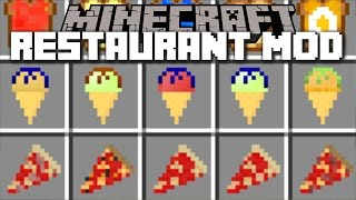 Minecraft RESTAURANT MOD / SERVE HUNDREDS OF DISHES TO CUSTOMERS!! Minecraft