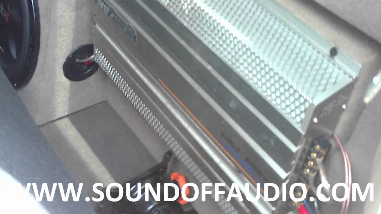 Ford F250 Speaker Box With Amp Rack 99 07 Youtube