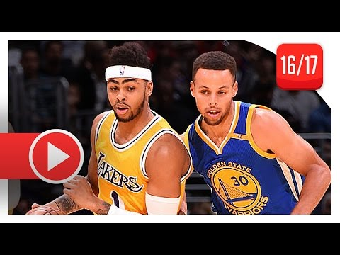 D'Angelo Russell vs Stephen Curry PG Duel Highlights 2016.11.04 Lakers vs Warriors  SICK!