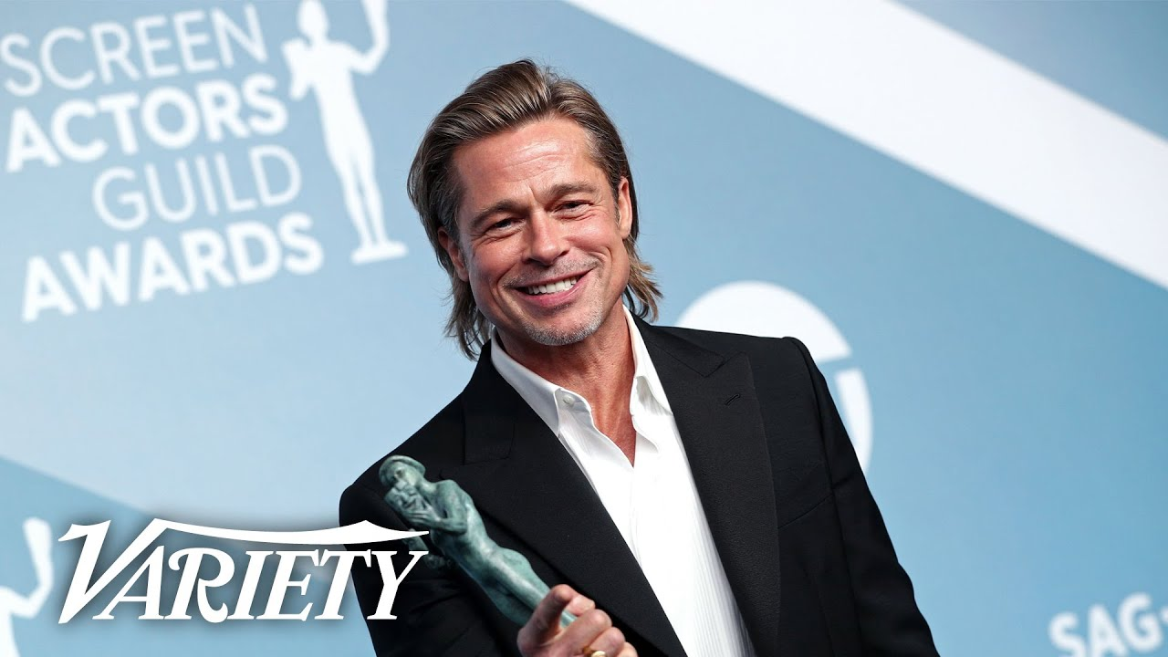 Brad Pitt Wins SAG Award for 'Once Upon a Time in Hollywood' - Full Backstage Interview