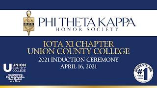 Union County College Phi Theta Kappa Virtual Induction Ceremony