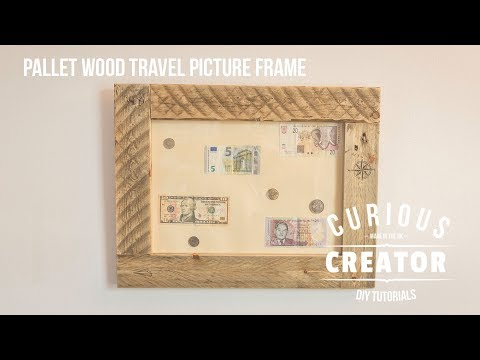 #15 Pallet Wood Travel Inspired Picture Frame - DIY Curious Creator