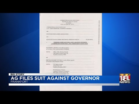 AG Files Suit Against Governor