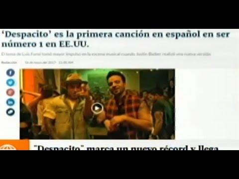 """HIT """"DESPACITO"""" MARCA UN NUEVO RECORD Y LLEGA PRIMER LUGAR EN BILLBOARD"""