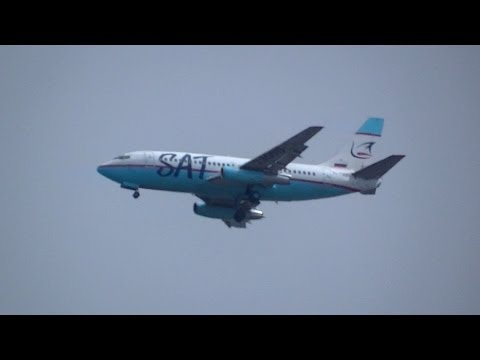 SAT Airlines Boeing B737-200 approach to New Chitose Airport