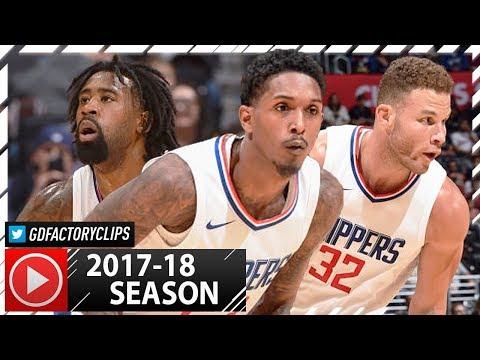 Blake Griffin, Lou Williams & DeAndre Jordan PS Highlights vs Kings (2017.10.12) - SICK!