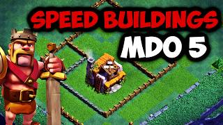 SPEED BUILDING MDO 5 / ENORME BASE MAISON DES OUVRIERS 5 !!! Clash Of Clans