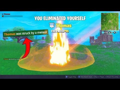 I GOT KILLED BY A METEOR! (Fortnite Funny Fails and WTF Moments)