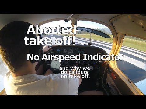 Aborted Take off!  No airspeed indication.