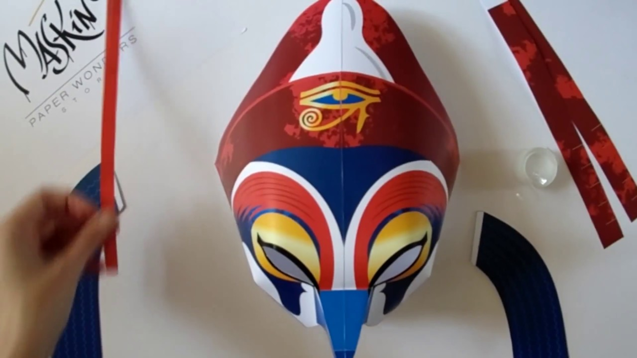 egyptian masks templates - egyptian mask horus mask from maskinbox youtube