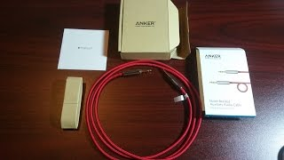 Unboxing Of 4 Feet Anker 3.5mm Aux Cable