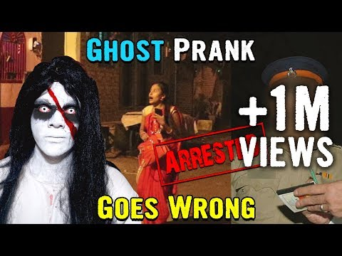 GHOST PRANK GOES WRONG | SCARY REAL GHOST | Arrested by Police | Prank in India | YoutubeWale Pranks