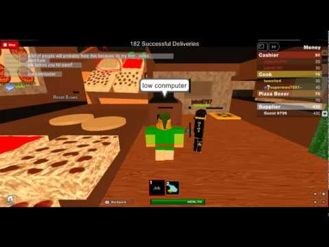 My First Day At Roblox Pizza Hut! - YouTube
